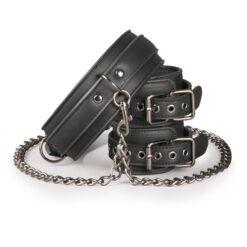 Productafbeelding Kunstleren Halsband met Handboeien